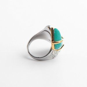 Alexis Bittar Turquoise Full Diamond Ring